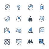 Los iconos de la mejora de productividad fijaron 2 - serie azul Fotos de archivo libres de regalías
