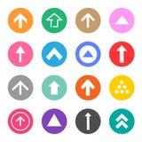 Los iconos de la muestra de la flecha fijaron grande para cualquier uso Vector eps10 Foto de archivo libre de regalías