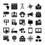Los iconos de la red y de la comunicaci?n embalan stock de ilustración
