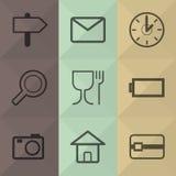 Los iconos de la tecnología y de la oficina fijaron grande para cualquier uso Vector eps10 Imagen de archivo libre de regalías