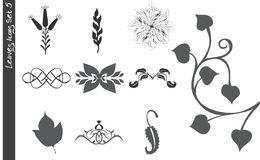 Los iconos de las hojas fijaron 5 libre illustration