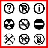 Los iconos de los símbolos fijaron grande para cualquier uso Vector eps10 Imagenes de archivo