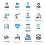 Los iconos de los servicios médicos fijaron 1 - serie de Sympa Foto de archivo libre de regalías