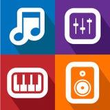 Los iconos de los sonidos fijaron grande para cualquier uso Vector eps10 Imágenes de archivo libres de regalías