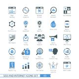 Los iconos de SEO fijaron 03 Imágenes de archivo libres de regalías