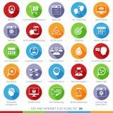 Los iconos de SEO fijaron 04F Imágenes de archivo libres de regalías