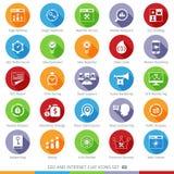 Los iconos de SEO fijaron 03F Imágenes de archivo libres de regalías