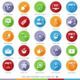 Los iconos de SEO fijaron 01F Fotografía de archivo libre de regalías