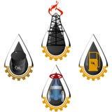 Los iconos del aceite industry-2 Imagen de archivo libre de regalías