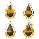 Los iconos del aceite industry-1 Imágenes de archivo libres de regalías
