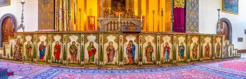 Los iconos del altar principal Imágenes de archivo libres de regalías