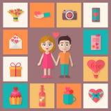 Los iconos del amor fijaron Imágenes de archivo libres de regalías