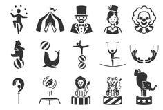 Los iconos del circo fijaron 1 stock de ilustración