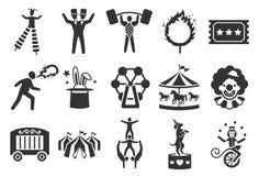 Los iconos del circo fijaron 2 libre illustration