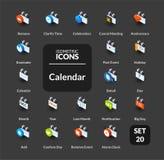 Los iconos del color fijaron en el estilo isométrico plano del ejemplo, colección del vector Fotografía de archivo libre de regalías