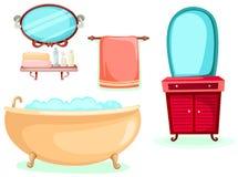Los iconos del cuarto de baño fijaron Fotos de archivo