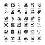 Los iconos del día de fiesta embalan ilustración del vector