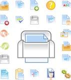 Los iconos del editor de textos fijaron 1 libre illustration
