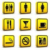 Los iconos del estilo del aeropuerto fijaron 03 Imagen de archivo libre de regalías