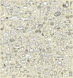 Los iconos del garabato de XXL fijaron No.3 Imagen de archivo libre de regalías