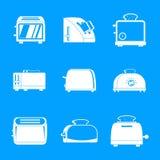 Los iconos del horno del pan de la cocina de la tostadora fijaron, estilo simple libre illustration