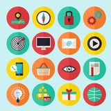Los iconos del infographics del web fijaron para el sitio del negocio, las presentaciones etc Fotografía de archivo