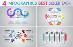 Los iconos del márketing del diseño y de negocio de Infographics del vector fijados se pueden utilizar para la disposición del fl ilustración del vector