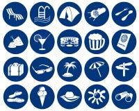 Los iconos del recorrido fijaron stock de ilustración