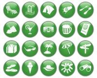 Los iconos del recorrido fijaron Imagen de archivo libre de regalías