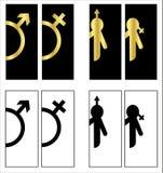 Los iconos del retrete fijaron el wc del lavabo del muchacho o de la muchacha libre illustration