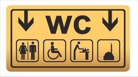 Los iconos del retrete fijaron el wc del lavabo del muchacho o de la muchacha ilustración del vector