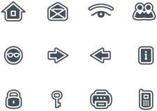 Los iconos del vector fijaron Imagen de archivo libre de regalías