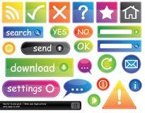 Los iconos del vector pila de discos para el Web site Fotografía de archivo libre de regalías