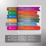 Los iconos del vector y del márketing del diseño de Infographic se pueden utilizar para la disposición del flujo de trabajo, diag Imágenes de archivo libres de regalías