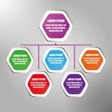 Los iconos del vector y del márketing del diseño de Infographic se pueden utilizar para la disposición del flujo de trabajo, diag Fotos de archivo libres de regalías