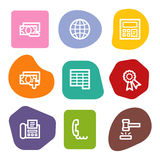 Los iconos del Web de las finanzas fijaron 2, serie de los puntos del color Fotografía de archivo libre de regalías