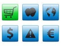 Los iconos del Web fijaron Imagen de archivo libre de regalías