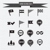Los iconos del Web fijaron el ejemplo Foto de archivo libre de regalías