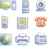 Los iconos del Web fijaron la electrónica del â (el vector) Fotos de archivo