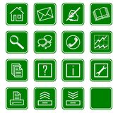 Los iconos del Web fijaron no.2 - green.2 Imágenes de archivo libres de regalías