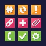Los iconos del web y del App fijaron grande para cualquier uso, vector EPS10 Fotografía de archivo libre de regalías