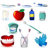 Los iconos dentales fijaron 4 Imágenes de archivo libres de regalías