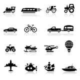 Los iconos fijaron el transporte Foto de archivo libre de regalías
