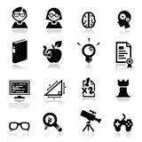 Los iconos fijaron a empollones Imagen de archivo