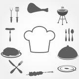Los iconos fijaron la comida Foto de archivo libre de regalías