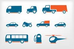 Los iconos fijaron los vehículos Imagenes de archivo