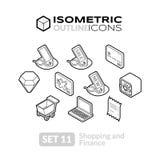 Los iconos isométricos del esquema fijaron 11 Foto de archivo