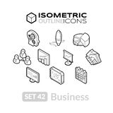 Los iconos isométricos del esquema fijaron 42 Fotos de archivo