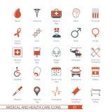 Los iconos médicos fijaron 01 Fotografía de archivo libre de regalías
