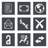 Los iconos para el diseño web fijaron 32 Fotografía de archivo libre de regalías
